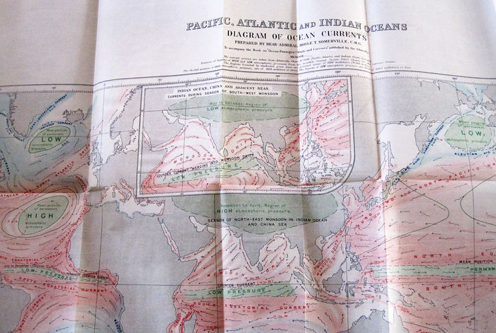 Maritime; Boyle T. Somerville C.M.G. - Ocean Passages for the World. Wind and Currents - 1923