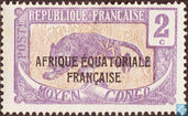 Leopard, with overprint