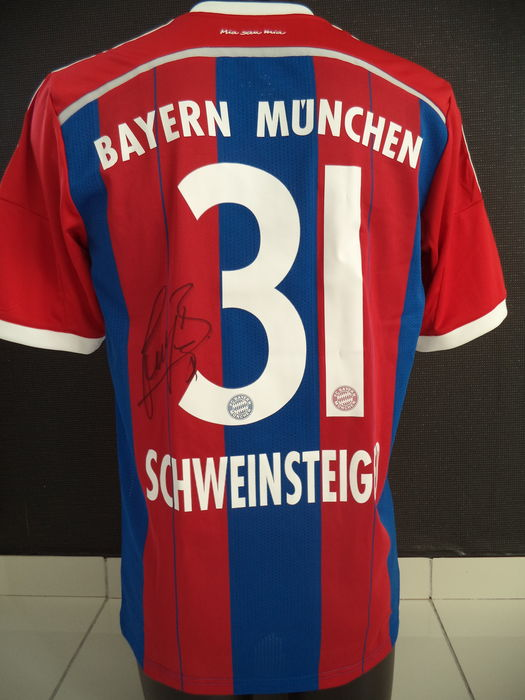 buy online 2db38 b7348 Bayern Munchen signed home jersey 2014-2015 by Schweinsteiger + conclusive  photo proof + COA. - Catawiki