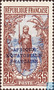 Bakalois female, with overprint