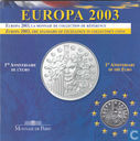 "France 1½ euro 2003 (PROOF - Folder) ""Introduction of the Euro"""