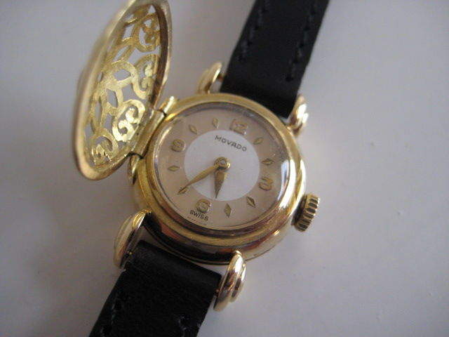 movado 18 kr gold unique vintage years 50 60
