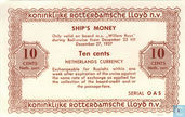 "10 cent Rotterdamsche Lloyd ""Ships money"""