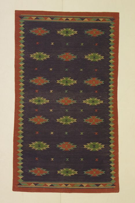 Pair of KILIMS (DHURRIE, India & SENE, Iran), India, 1980