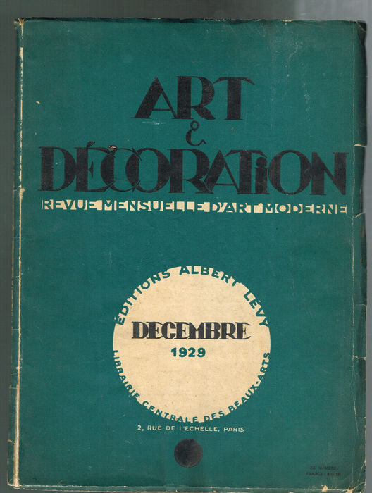 Literature two important french photo magazines 39 art et decoration 39 - Magazine art et decoration ...