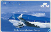 KLM Boeing 747-400, Daily from Jakarta to Europe