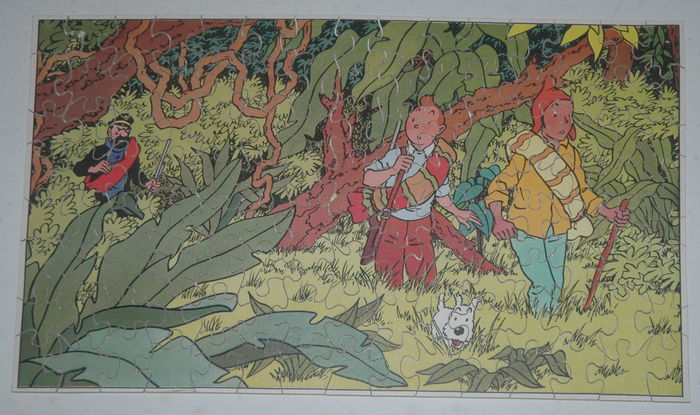 Tintin - Wooden jigsaw puzzle 'Prisoners of the Sun' - (1952)