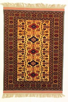 BELOUCH carpet, very very fine, a collectible, Afghanistan, 20th century, 156 x 119 cm. SILK on SILK