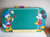 Donald duck en Mickey mouse krijtbord