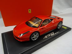 BBR Models - Scale 1/18 - Ferrari 458 Italia 2009 - Limited 900 pieces - Colour Corso Rossa 322
