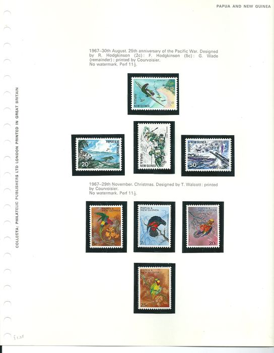 papua new guinea 1952 1989 complete collection in preprint albums