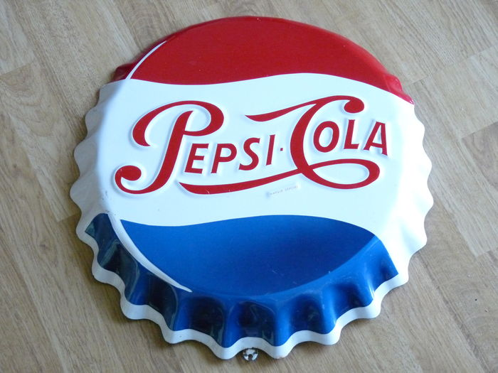 plaque maill e publicitaire pepsi cola vitracier neuhaus catawiki. Black Bedroom Furniture Sets. Home Design Ideas