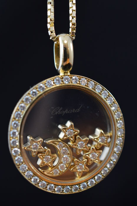 Chopard happy diamonds pendant with moon and stars catawiki chopard happy diamonds pendant with moon and stars aloadofball Gallery