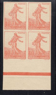 France 1906 – Semeuse Type 10c under the sun. Not released, known as 'Rising Sun' – Maury no.134A.