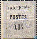 Revenue stamp, with surcharge
