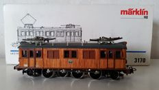Märklin H0 - 3170 -E-locomotive type D 109 of the Swedish SJ, wooden structure.