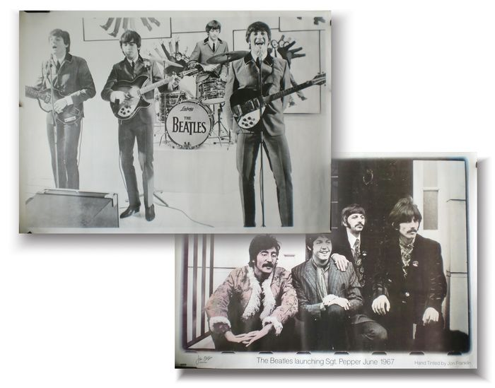 Two Large Vintage Posters Of The Beatles