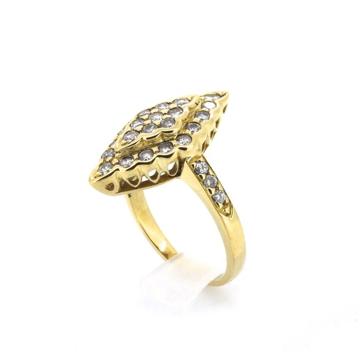 Gold and 0.93 ct Diamond Marquise Ring