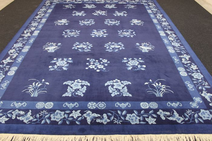 grand tapis chinois bleu ciel sign 20 me catawiki. Black Bedroom Furniture Sets. Home Design Ideas