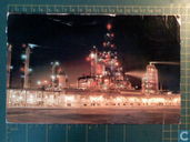 A night scene of Edmonton Refinery