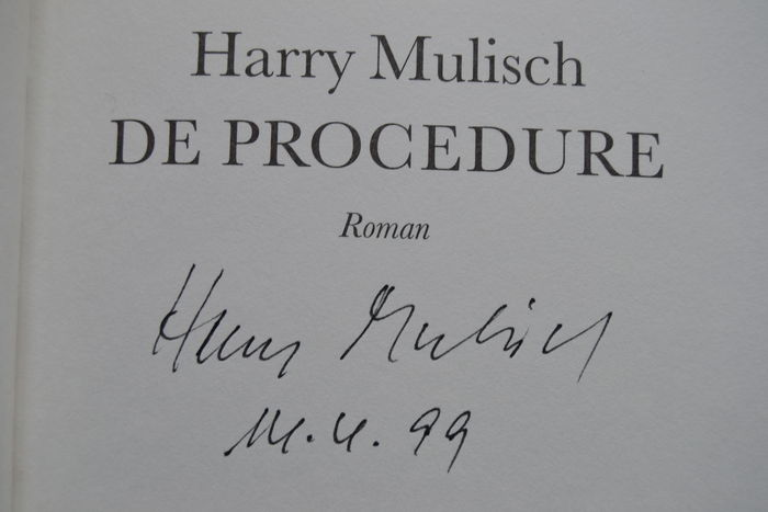 Gesigneerd Harry Mulisch De Procedure 1998 Catawiki
