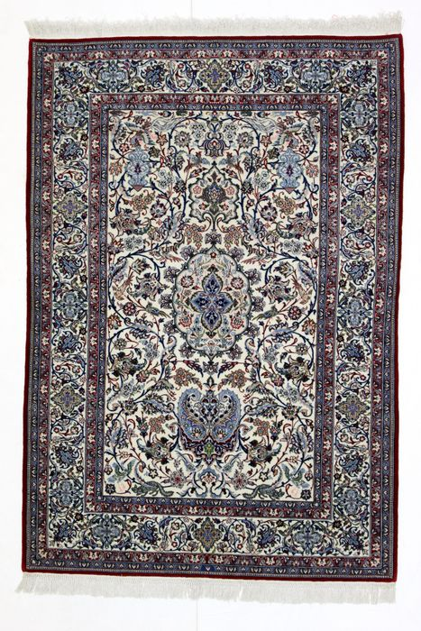 Splendid NAIN TOUDESHK carpet, a collector's piece, more than 1M knots/m², Iran, 20th century