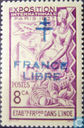 France Libre with Lorraine cross