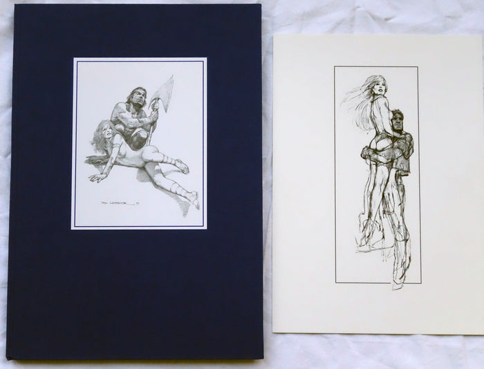 Don Lawrence Sketchbook + prent  - linnen hc - (1996)