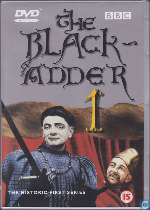 Picture of BBCDVD 1001 The black adder by artist Richard Curtis / Rowan Atkinson from the BBC dvds - Records and Tapes library