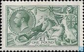 Postage Stamps - Great Britain [GBR] - George V 'Seahorse'