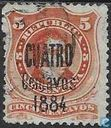 Bernardino Rivadavia, with overprint