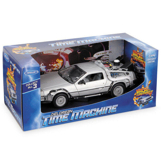 back to the future ii welly chelle 1 24 delorean tijdreismachine catawiki. Black Bedroom Furniture Sets. Home Design Ideas