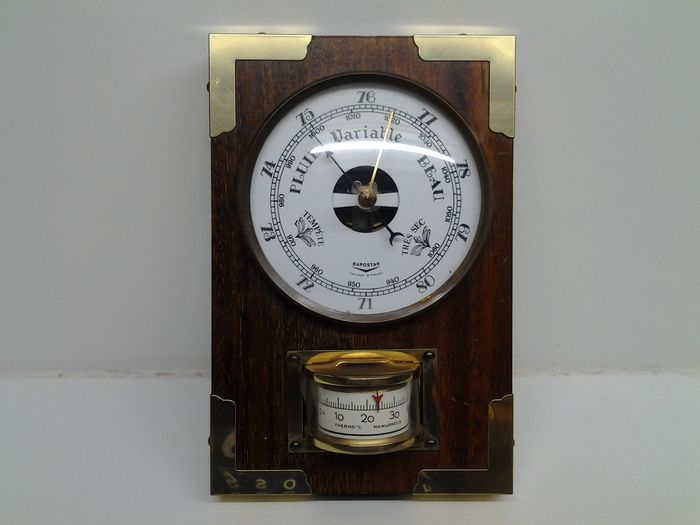Messing barometer thermometer, Barostar 1970