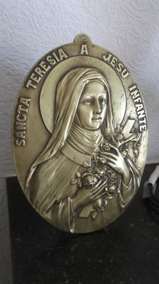 BEAUTIFUL bronze plate in BAS-RELIEF signed 16.Giltay
