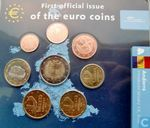 "Andorra mint set 2014 ""First official issue of the euro coins"""