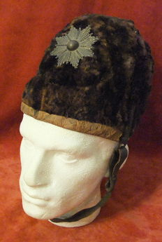Rare Prussian Infantry Bear Skin Hat - Other Ranks - 19e eeuw