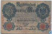 Reichsbanknote, 20 Mark 1910