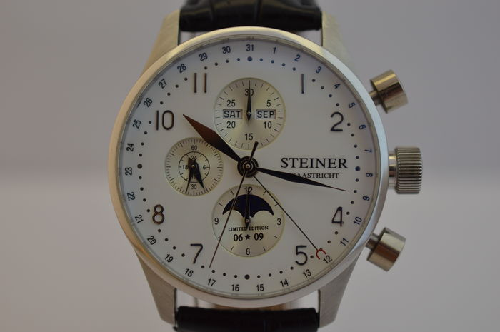 Steiner Limited edition - platinum men's watch