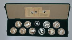 "Canada - 20 Dollar 1986 (ten different coins) ""Olympic Games Calgary 1988"" - Silver"