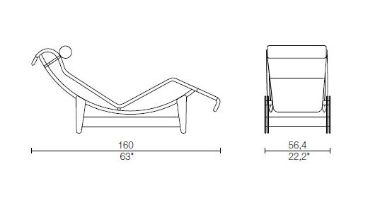 Le corbusier chaise longue lc4 catawiki for Chaise longue le corbusier medidas