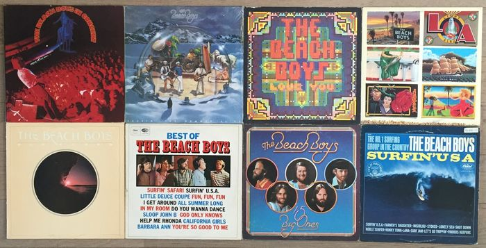 Beach Boys Lot Of 8 Lp S Surfin Usa In Concert 2lp 15