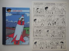 Mau, Bob - Original page (p.17) + album - Kari Lente 4 - Het verboden land - hc with cloth spine - 1st edition - (2007)