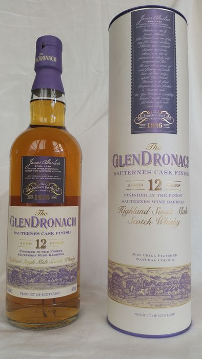 Glendronach 12 years old Sauternes Cask Finish - Original bottling - 700ml