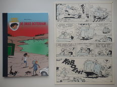 Mau, Bob - Original page (p.18) + album - Kari Lente 17 - De dikke boterham - hc with cloth spine - 1st edition - (2008)