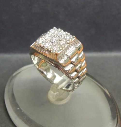 bague homme or et diamants