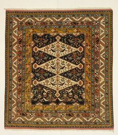 Exceptional, SAMARKAND carpet, Turkestan, +/- 1,000,000 knots; collection piece, 146 x 136 cm