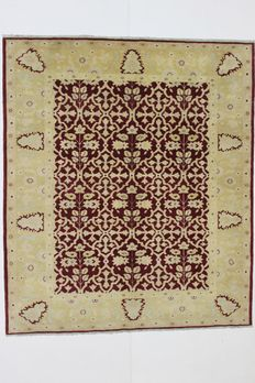 Egyptian carpet, AGRA design, 20th century, hand-knotted, 221 x 194 cm
