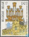 Postage Stamps - Belgium [BEL] - Delmotte Organ and Sainte Waudru collegiate in Mons