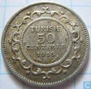 Tunisia 50 centimes 1916 (year 1335)