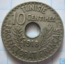 Tunisia 10 centimes 1918 (year 1337)